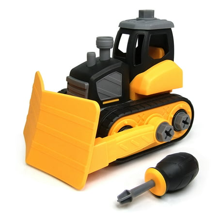 WistoyzTake Apart Toys Play Car Truck for Toddlers ,Gift for 3 4 5 Year Old Boys Girls, DIY Toys , Snow Plow toys for 3-4-5 Year Old