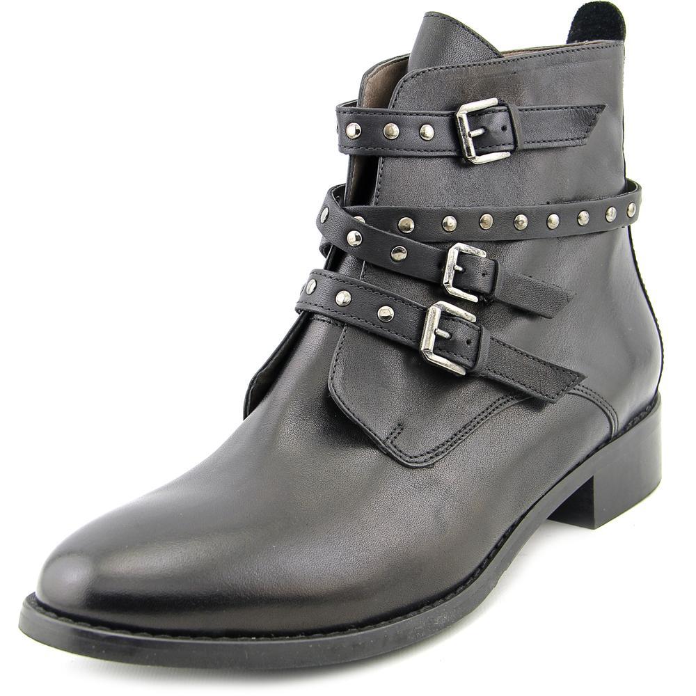 Bella Vita Mod-Italy Women W Round Toe Leather Black Ankle Boot by Bella Vita