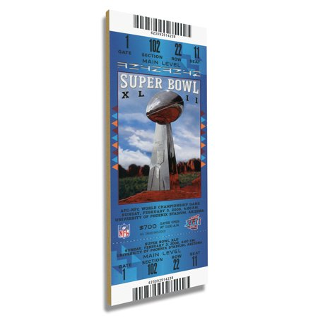 New York Giants Super Bowl XLII Commemorative Mini-Mega Ticket - No (New York Giants New York Jets Tickets)