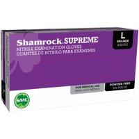 Shamrock  Powder-free Textured Supreme Blue Nitrile Exam Gloves (Case of 1000)