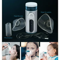 Cisno Portable Handheld Ultrasonic Nebulizer Inhaler, Face Steamer ,Household USB Rechargeable Humidifier, Mist Kit