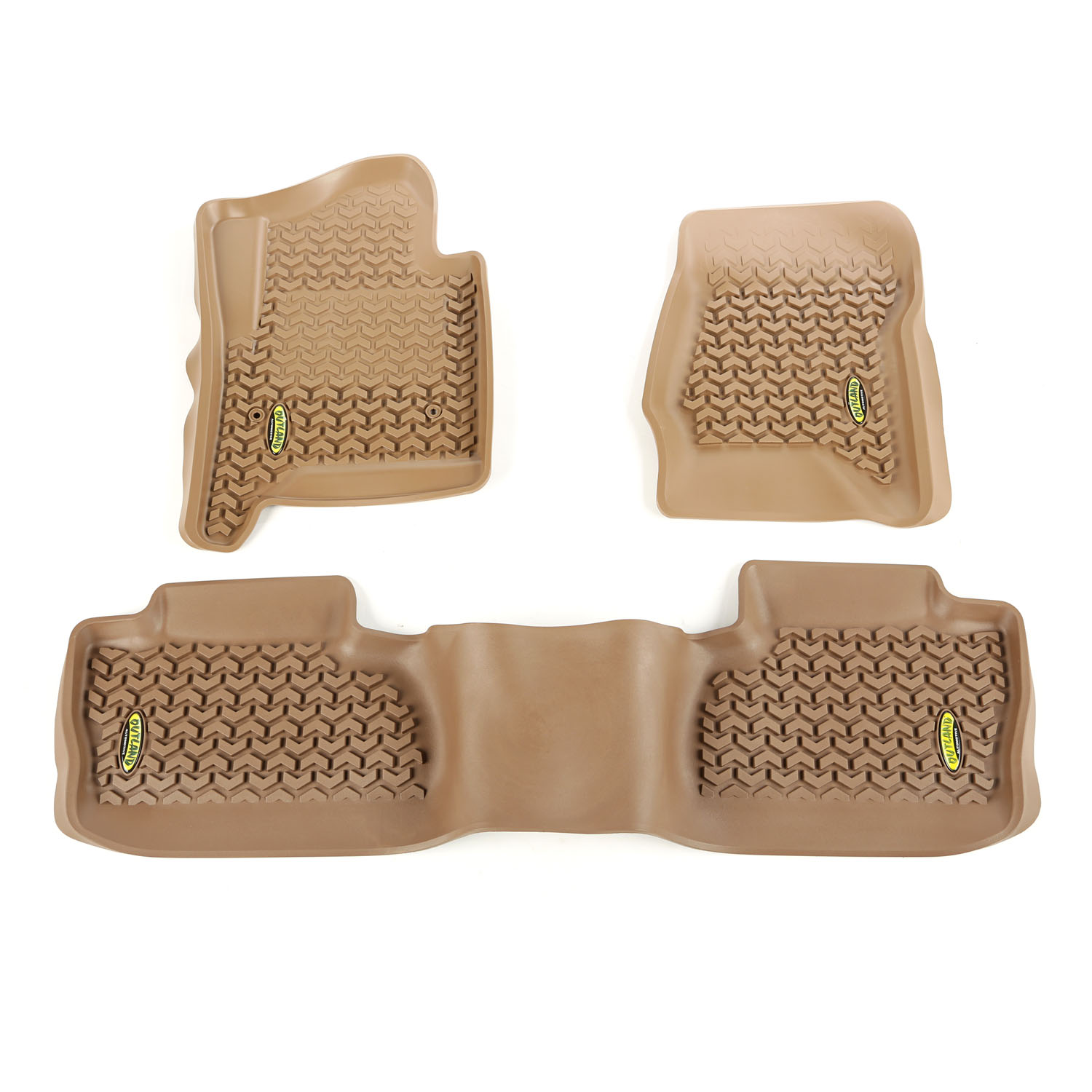 Outland Automotive 398398703 Tan Floor Liners for 14-16 GM Crew Cab Pickup