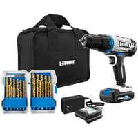 HART 20-Volt Cordless 1/2-inch Drill Kit with 29-Piece Accessory and 10-inch Storage Bag, (1) 1.5Ah Lithium-Ion Battery