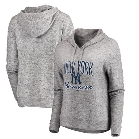 more photos 956be e7181 New York Yankees Let Loose by RNL Women's Cozy Collection Steadfast  Pullover Hoodie - Heathered Gray