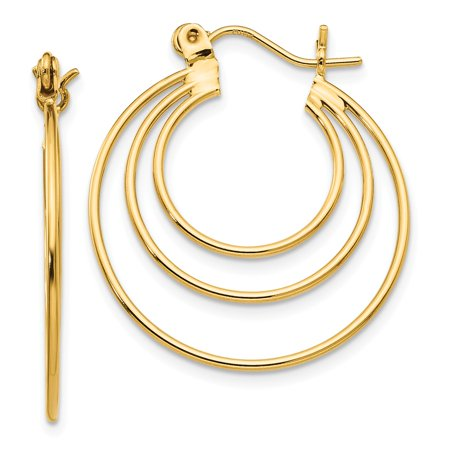 14k Polished Circles Hoop (Circle Hoop)