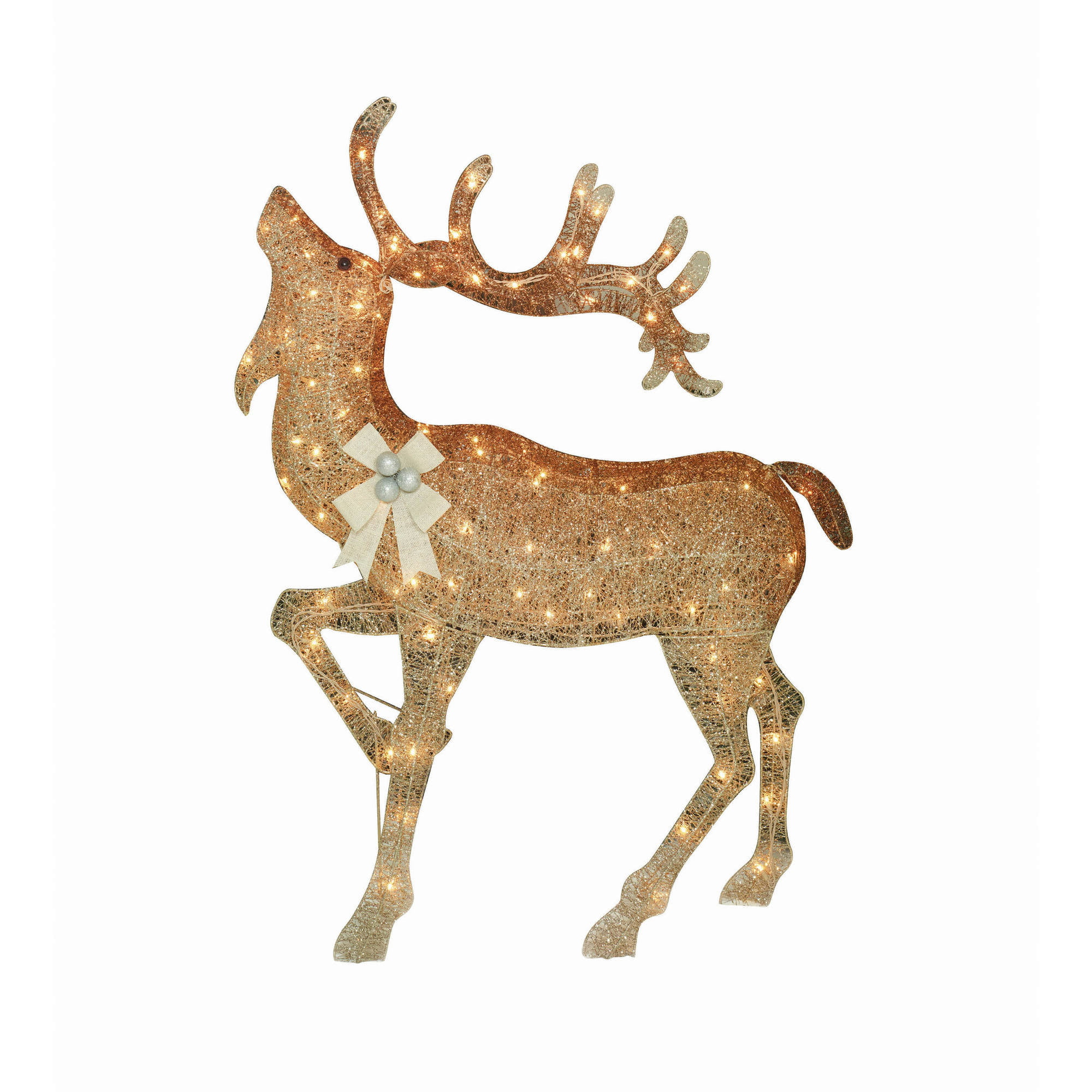 holiday time christmas decor 52 gradient color moose sculpture walmartcom