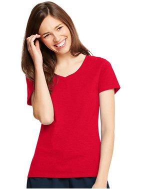5c7b1f25f4411 Product Image Hanes Women s Sporty X-Temp V-Neck T-Shirt