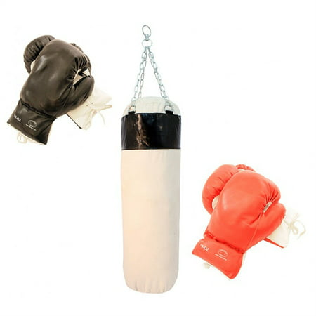 New 2 Pairs Boxing Punching Gloves with Body Punch Bag - Training Set (Boxing Material)