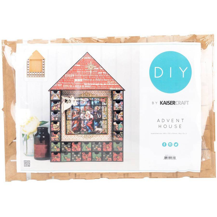 "Beyond The Page MDF Shadow Box Advent House Calendar, 19.25"" x 13"" x 2"""