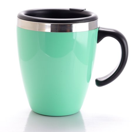 Mr. Coffee Neiva 15 oz. Travel Cup with Lid in Turquoise