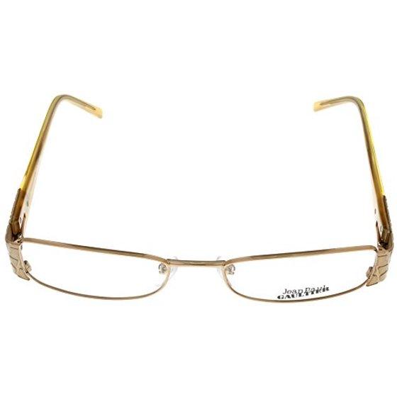 e4be58714b Jean Paul Gaultier Eyeglasses Frames Womens Designer VJP109M 08FCA  Palladium Swavorski Rectangular Size  Lens  Bridge  Temple  52-17-140-28 -  Walmart.com