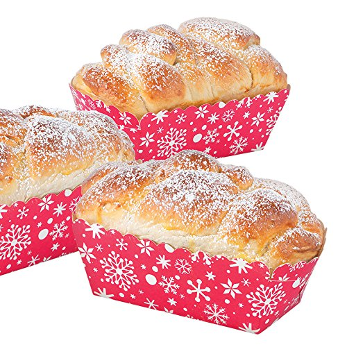 Good Cook Sweet Creations Paper Baking Moulds - Loaf - 3 x 5.5 - Snowflake - 6/pk