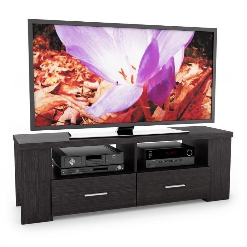 """Atlin Designs 60"""" TV Stand in Ravenwood Black - Walmart.com"""
