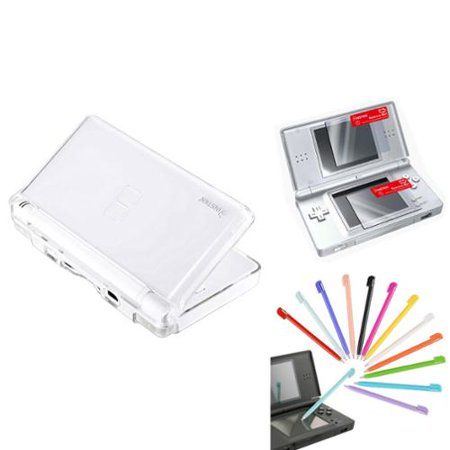insten crystal case 12pc plastic stylus 2 lcd screen protector for