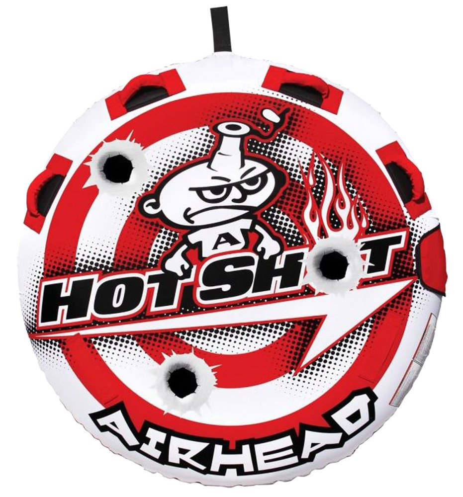 Airhead Hot Shot 2 Inflatable Round Deck Single Rider Towable Tube | AHHS-12