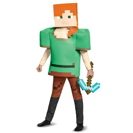 Alex Deluxe Minecraft Child - Minecraft Herobrine Costumes