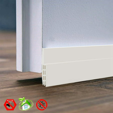 Door Sweep Weather Stripping Under Door Draft Stopper Direct Energy Saver for Door Bottom Seal, 2