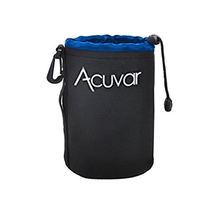 Acuvar Large Neoprene (Blue and Black) Soft Pouch For Canon, Sony, Pentax, Sigma, Olympus DSLR and SLR Camera Lens