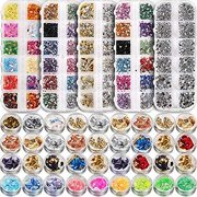 5 box 11440pcs Nails Rhinestones and 36 Pots Foils Flakes, Teenitor professional Nail Decoration with Gems for Nails Stud Foil for Nails Art 5 boxes Nail Art Rhinestones& 3 box nail fo