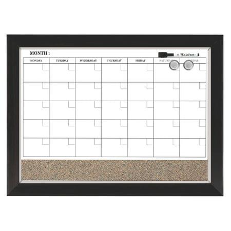 Quartet Home Décor Magnetic Calendar, Dry-Erase, 17