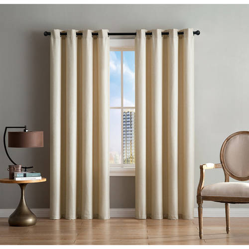 Better Homes and Gardens Gold Textured Grommet Curtain Panel, Multiple Sizes Available
