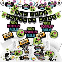 80's Retro - Totally 1980s Party Supplies - Banner Decoration Kit - Fundle Bundle