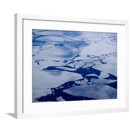Artic Ice Floes, Nunavut, Canada Framed Print Wall Art By Tony Wheeler (Canada Artic)