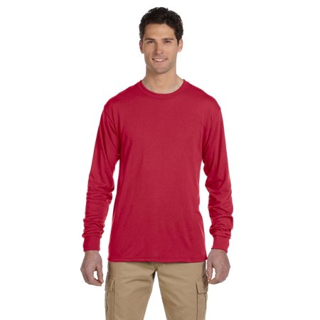 A Product of Jerzees Adult 5.3 oz. DRI-POWER® SPORT Long-Sleeve T-Shirt - TRUE RED - S [Saving and Discount on bulk, Code Christo]
