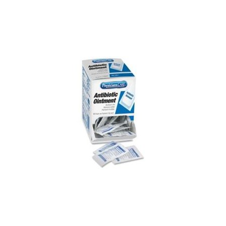 Acme United Triple Antibiotic Ointment Box Dispenser - Cut, Burn, Scrape - 50 / Box