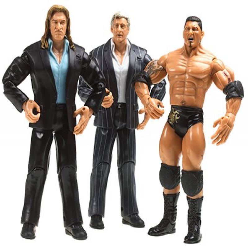 Jakks WWE 3-Pack Figures: Triple H, Ric Flair, Batista