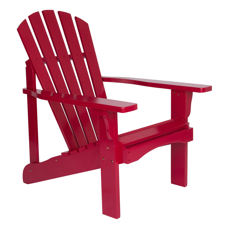 Shine Company Rockport Adirondack Chair - Chili Pepper