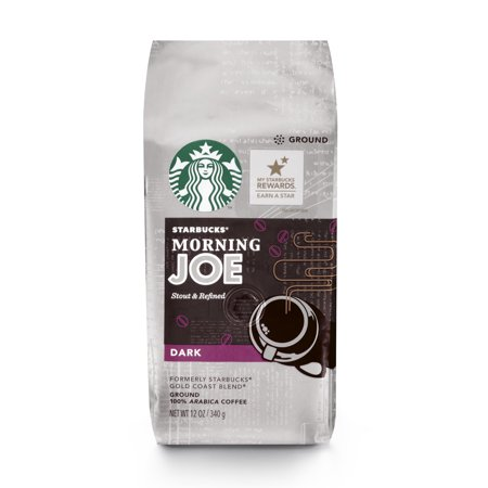 Starbucks Morning Joe Gold Coast Dark Roast Ground Coffee, 12-Ounce