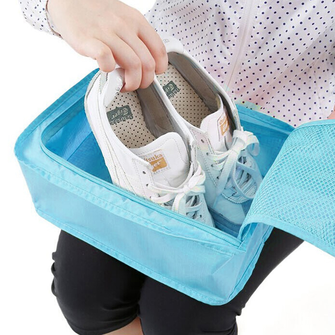 Unique Bargains Water Resistant Shoes Storage Folding Pouch Bag Case Organizer Keeper - image 4 de 6