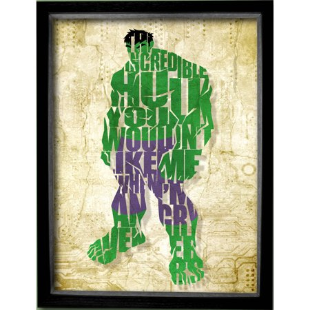 Marvel Printed Glass Hulk Shadowbox Frame