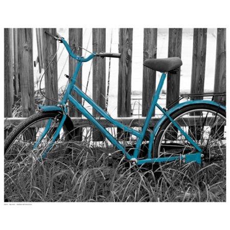 15 Poster Print - Teal Bike I Poster Print (15 x 12)