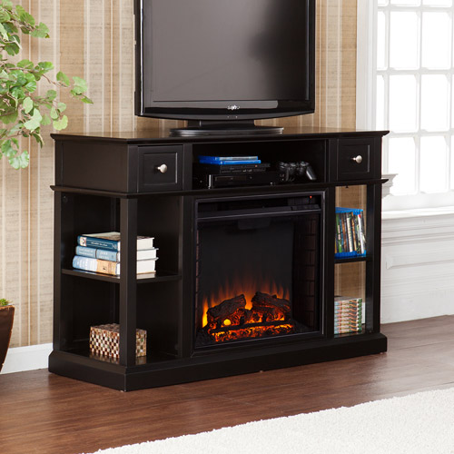 """Barrington Media Console and Electric Fireplace for TV's up to 45"""", Black"""