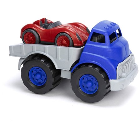 Green Toys Flatbed Truck and Race - Green Racing Car