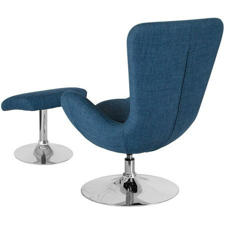 De Egg Chair.Flash Furniture Fabric Egg Chair With Ottoman In Blue Walmart Canada