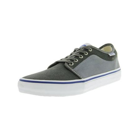 16c42d55ee6e Vans - Vans Men s Chukka Low Pro Two-Tone Gunmetal   Monument Ankle-High  Suede Fashion Sneaker - 10.5M - Walmart.com