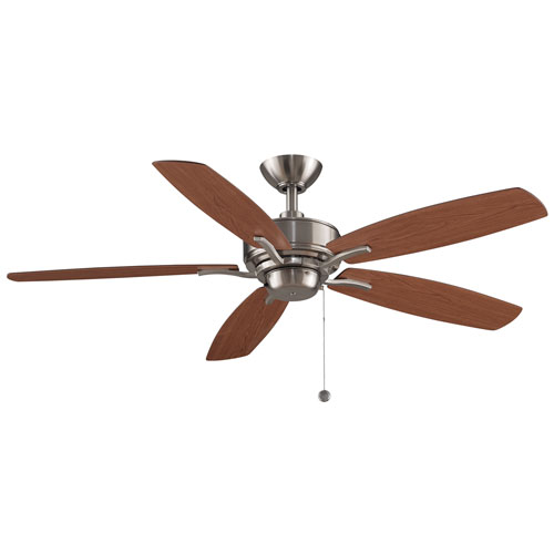 Aire Deluxe Brushed Nickel 52-Inch Ceiling Fan by