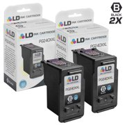LD Remanufactured Replacement for Canon PG-240XXL 5204B001 Extra High Yield Black Ink Cartridge 2-Pack for Pixma MG2120, MG2220, MG3120, MG3122, MG3220, MG3222, MG3520, MG3522, MG3620, MG4120