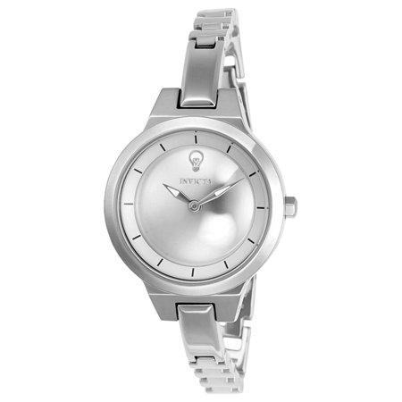 Invicta 23324 Womens Gabrielle Union Silver Tone Dial Steel Watch And Bangle Bracelet Set