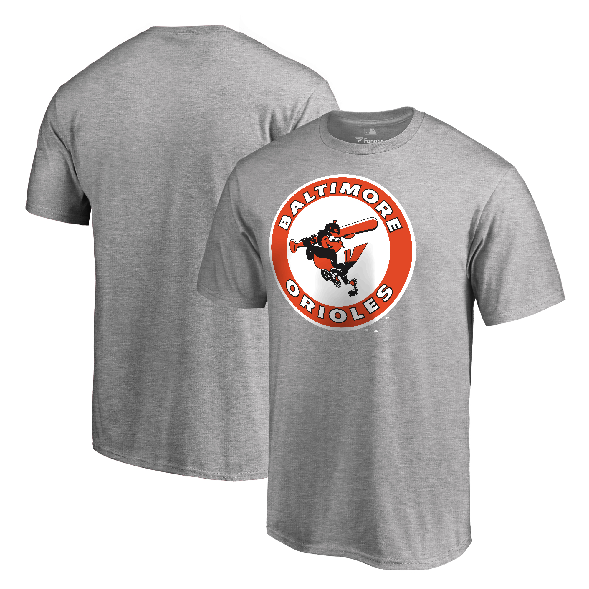 Baltimore Orioles Fanatics Branded Cooperstown Collection Forbes T-Shirt - Ash