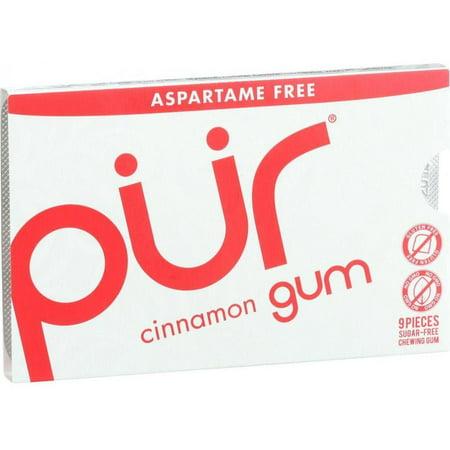 Pur Gum - Cinnamon - Aspartame Free - 9 Pieces - 12.6 g - Case of 12 ()