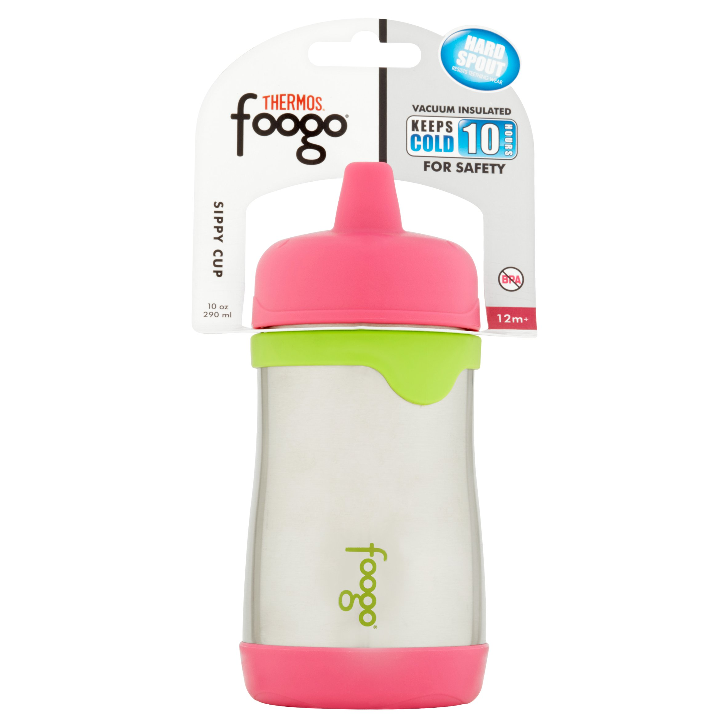 Thermos Foogo Vacuum Insulated Hard Spout Sippy Cup - Stainless Steel