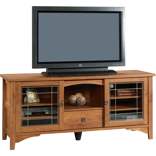 "Sauder Select Entertainment Credenza for TVs up to 55"", Abbey Oak Finish"