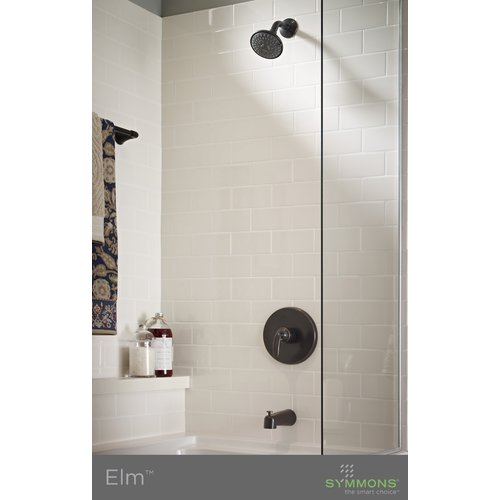 Elm Single Handle Tub and Shower Faucet Trim with Lever Diverter in Seasoned Bronze (Valve Not Included)
