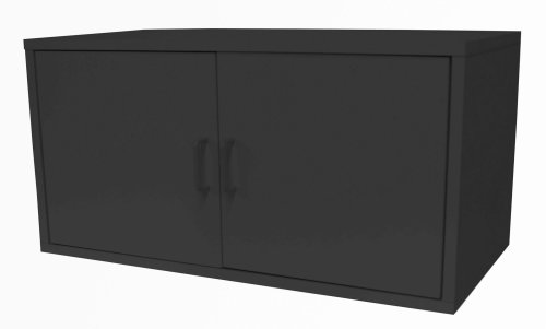 390606 Modular Large 2 Door Cube Storage System, Black By Foremost