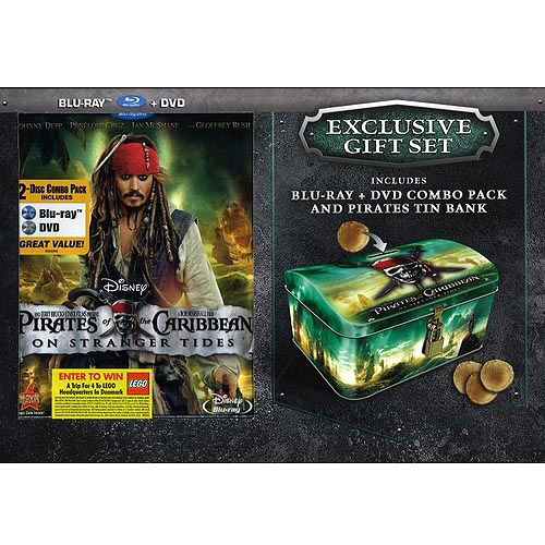 Pirates Of The Caribbean: On Stranger Tides (Blu-ray + DVD) (with Pirate Tin Bank)
