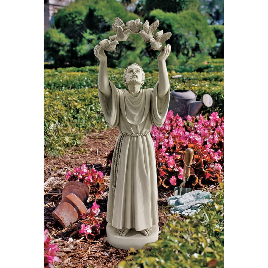 St. Francis's Doves of Peace Garden Statue by Design Toscano